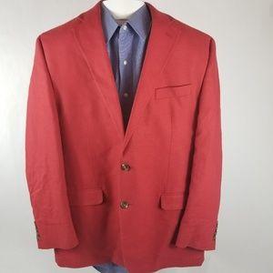 Chaps Red Mens Sports Coat